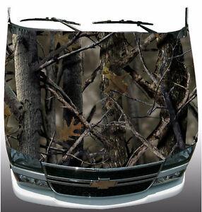 Real Tree Camo Hood Wrap Vinyl Graphic Decal Sticker Wrap Car Or - Camo custom vinyl decals for trucks