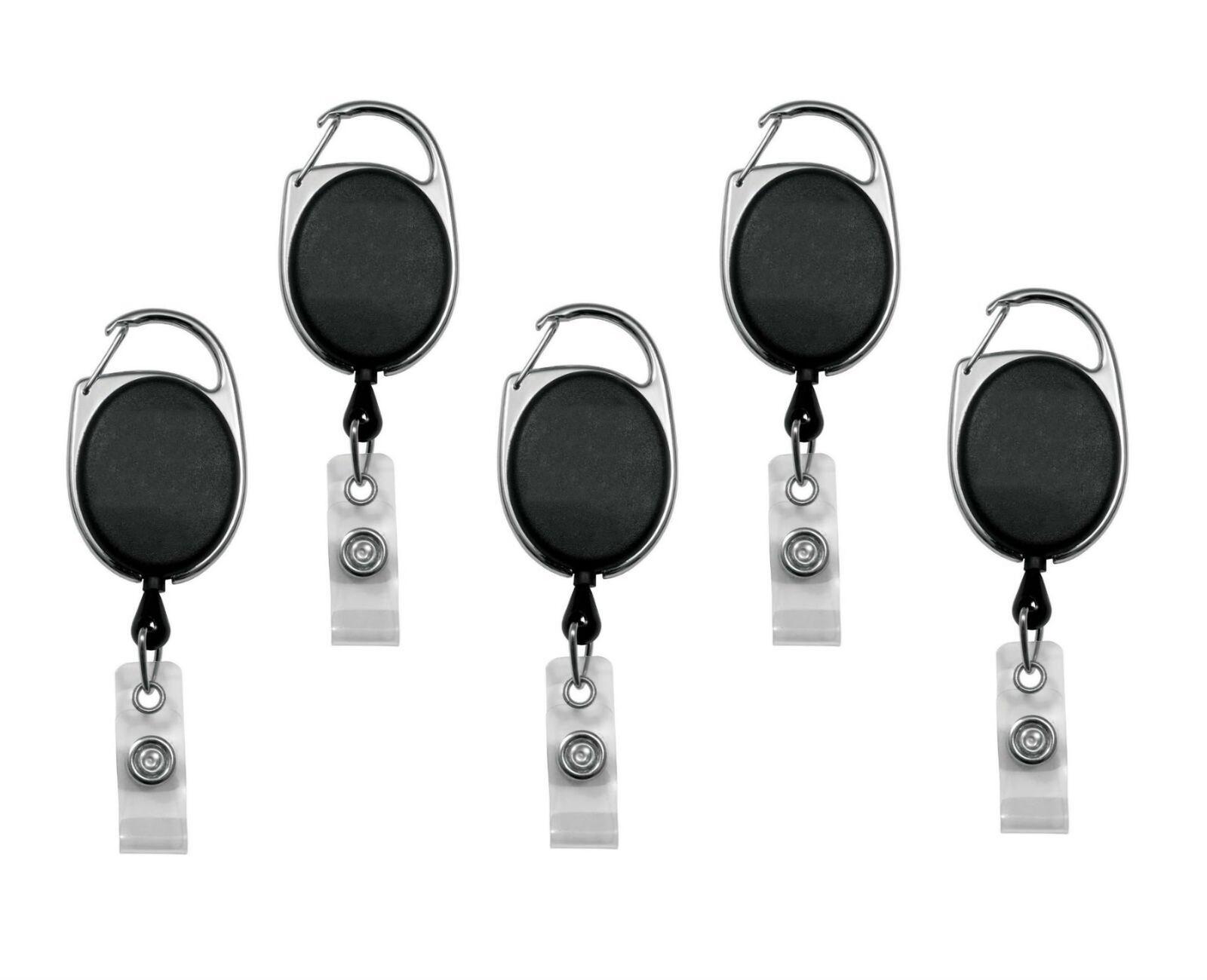 WZYuan 9pcs Reel Retractable Key Clip Holders Office ID Badges Card Holder