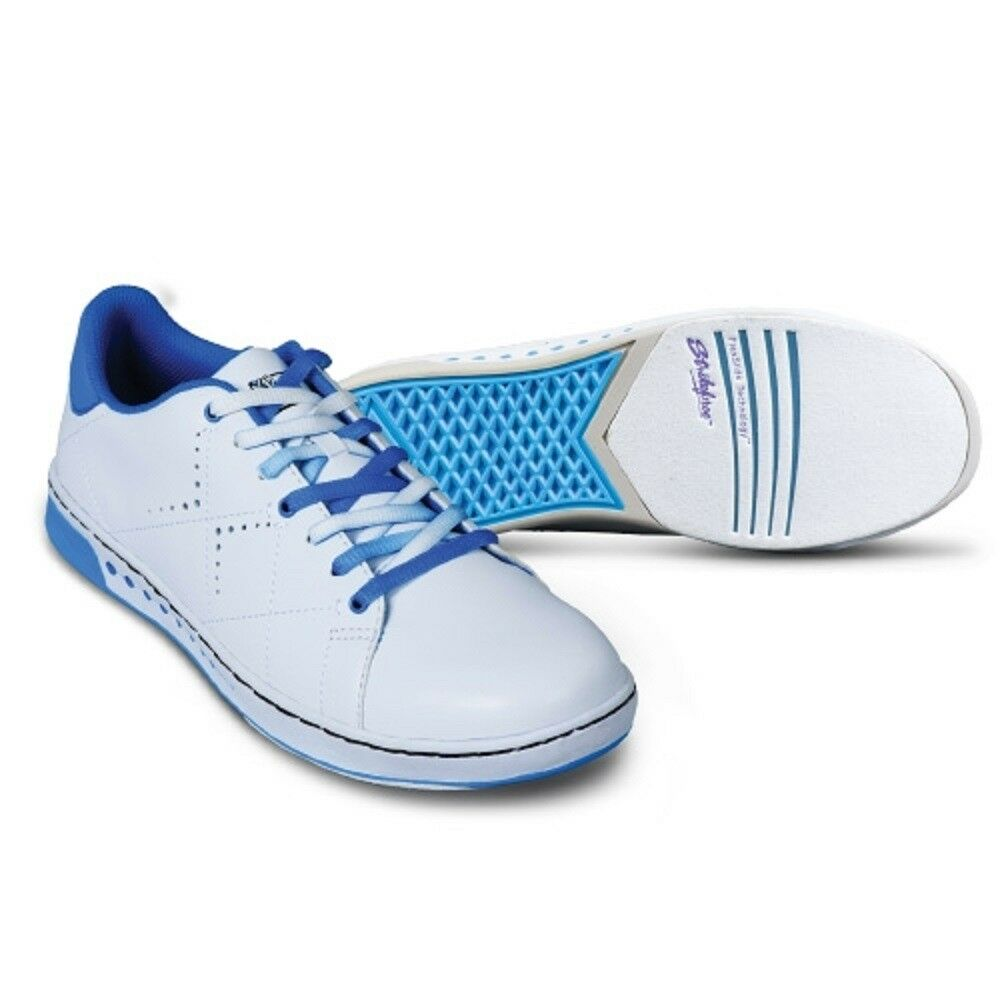 Womens KR Strikeforce GEM Wide Bowling shoes color White & bluee Sizes 6-11 WIDE