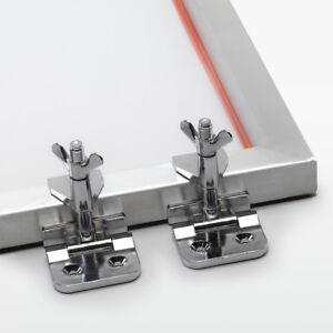2x Siebrahmenzwingen   Siebdruck Klammern für Siebdruckrahmen, Siebdruckmaschine