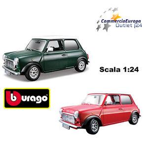 MODELLINO-MINI-COOPER-BURAGO-1969-SCALA-1-24-DA-COLLEZIONE-IN-METALLO-JON