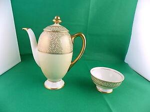 Antique-Royal-Doulton-Coffee-Pot-and-Sugar-Bowl