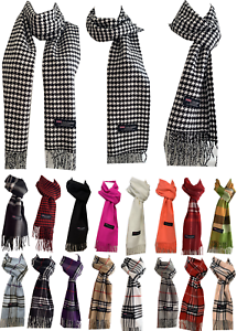 Winter-Womens-Mens-100-Cashmere-Wool-Wrap-Scarf-Scotland-Made-Plaid-Scarves