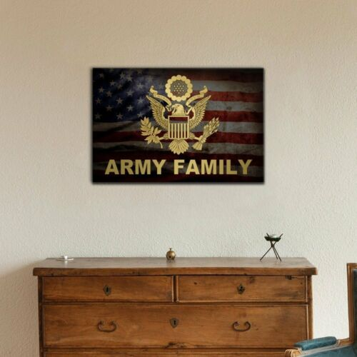 wall26 Army Family 16x24 inches Military Family Canvas Wall Art