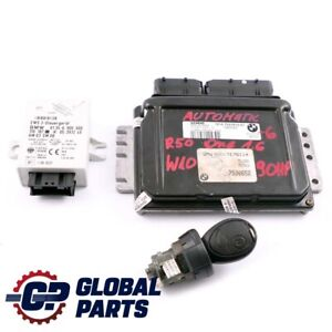 BMW MINI R50 One 1.6 W10 90HP Engine ECU Kit DME + EWS + Key 7527610 Automatic