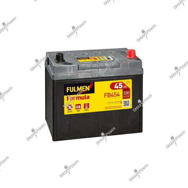 Batterie démarrage voiture Fulmen FB454 12v 45ah 330A 237x127x227mm