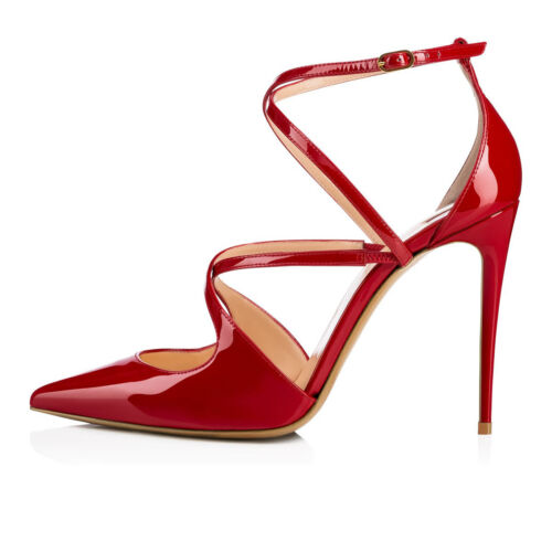 Women Pointed Toe High Heel Strappy Pumps Stiletto Party Wedding Dress Shoes