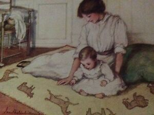 m5-2g-ephemera-1912-picture-a-baby-039-s-crawling-rug
