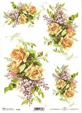 Rice Paper for Decoupage Scrapbooking Vintage Cards Flowers A4 ITD R1117