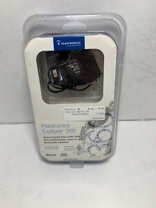 Blue Plantronics Explorer 360 Bluetooth Headset With Power Cord Manual Ebay