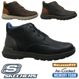 MENS SKECHERS LEATHER RELAXED FIT AIR