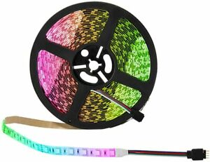 5m RGB 3528 LED Strip Lights With IR Remote Back Light 12v Colour Changing