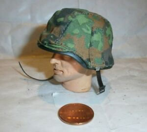 Alert-Line-German-metal-helmet-with-camo-cover-1-1-6th-scale-toy-accessory