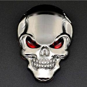 Creative-3D-Metal-Skull-Bone-Car-Decor-Emblem-Badge-Sticker-Motorcycle-Decal
