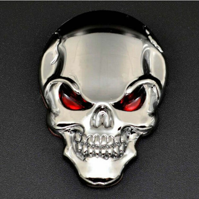 Creative 3D Metal Skull Bone Car Decor Emblem Badge Sticker Motorcycle Decal