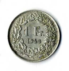 Moneda-Suiza-1946-B-1-franco-suizos-plata-835-silver-coin-Helvetia