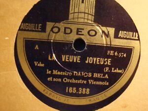 DAJOS-BELA-la-veuve-joyeuse-bonbons-de-Vienne-78T-Odeon-VG