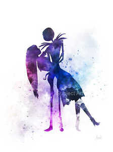 Tim Burton Nightmare Before Christmas Artwork.Details About Art Print Jack And Sally Nightmare Before Christmas Illustration Tim Burton