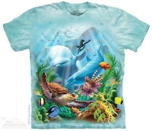 Seavillians-T-Shirt-by-The-Mountain-Dolphin-Shark-Turtle-Fish-Sizes-S-5XL-NEW