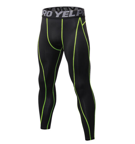 Mens Compression Running Jogging Tights Athletic Under Base Layers Fitness Pants