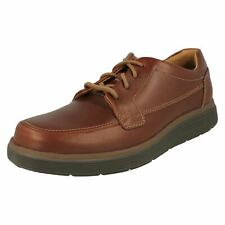 Clarks Javery Time Tan Leather Casual Lace up Shoes With