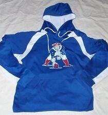 New NFL New England Patriots BLUE Wicking Hoodie Hooded Sweatshirt Mens Medium