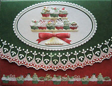 Carol Wilson Fine Stationery 10 Note Cards Envelopes Cupcakes Cup Cake Christmas