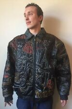 Mens Hpnotiq 2XL XXL Scarface Jacket Coat Leather Lined World Is Yours Al Pacino