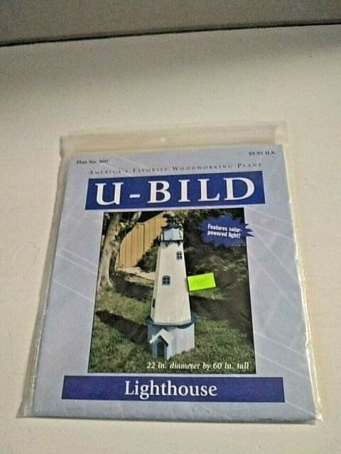 Paper Plan Only Woodworking Project Plan to Build a 5ft New England Lighthouse