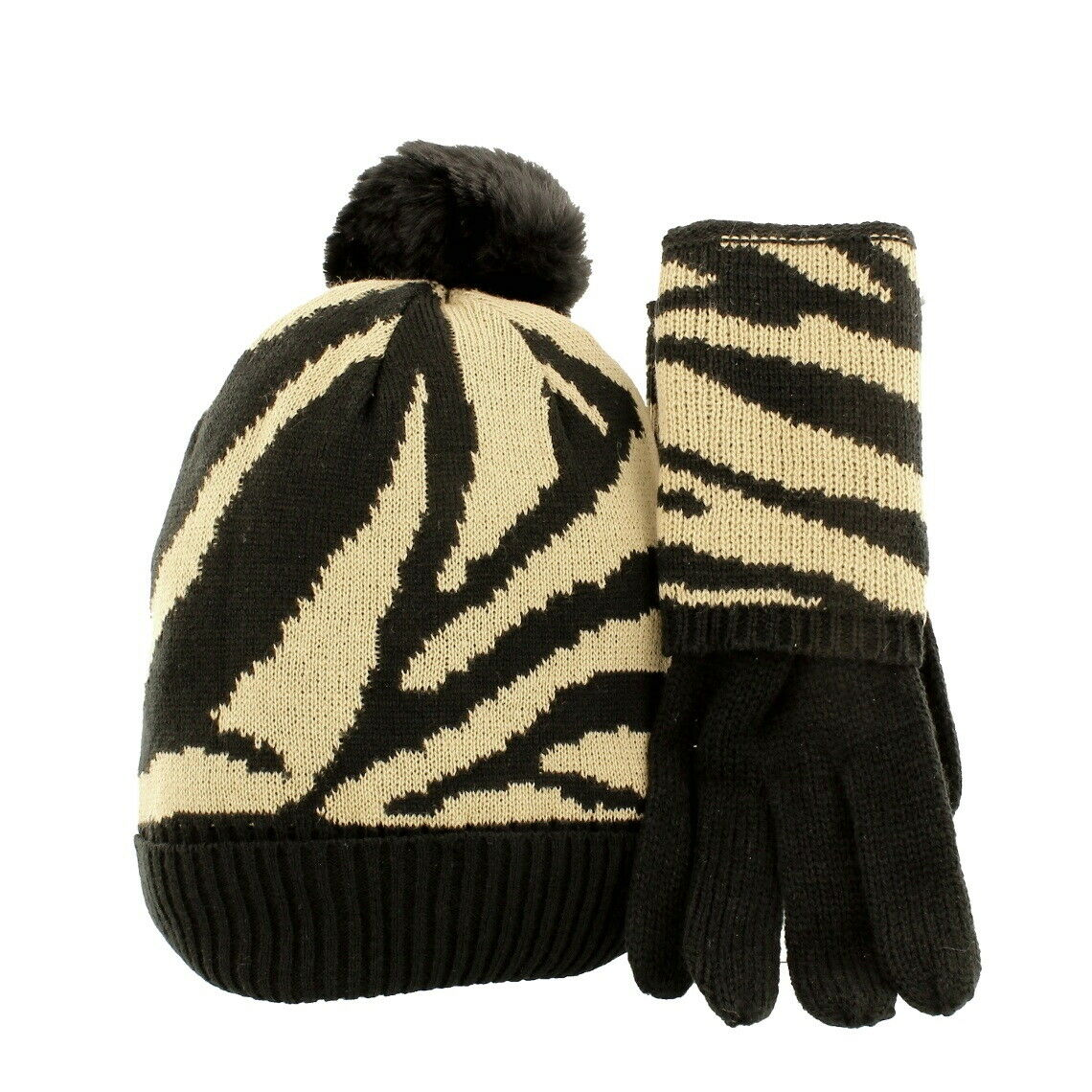 Pia Rossini Alessia Matching Bobble Hat & Gloves Set
