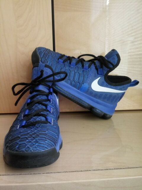 Nike Zoom KD 9 Game Royal Basketball Shoes Kevin Durant Size 4Y