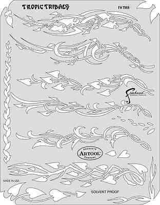 Artool Airbrush Paint Stencil Dennis Mathewson Tiki Master II Tropic Tribals