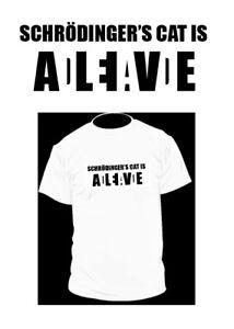 82905c92 Schrodinger's Cat is Dead Alive Funny Physics T-shirt Math Nerd Geek ...