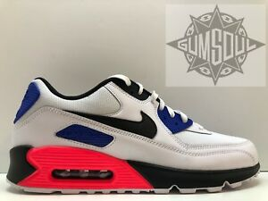 more photos 537ef 93286 Image is loading NIKE-AIR-MAX-90-ID-WHITE-BLUE-BLACK-