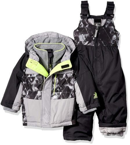 ZeroXposur Infant or Toddler Boys 2 Pc Snowsuit NWT  24M or 4T  Gray Black