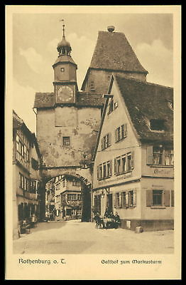 Ak Rothenburg Ob Der Tauber Alte Ansichtskarte Foto-ak Postcard Cx39 Architektur Motive