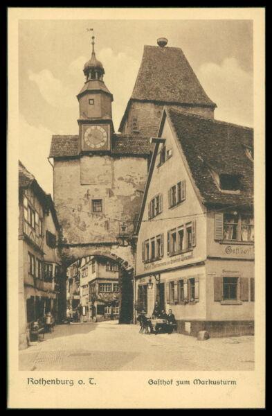 Bayern Deutschland Ak Rothenburg Ob Der Tauber Alte Ansichtskarte Foto-ak Postcard Cx32