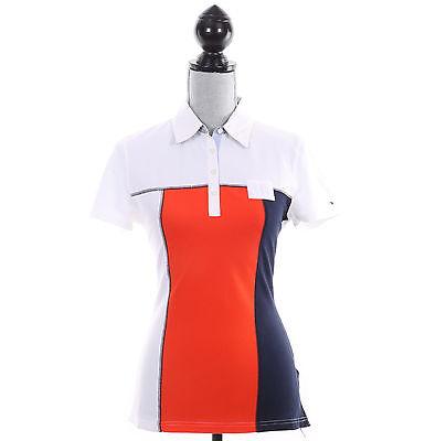 Tommy Hilfiger Women Classic Fit Short Sleeve Logo Polo Shirt - Free $0 Ship