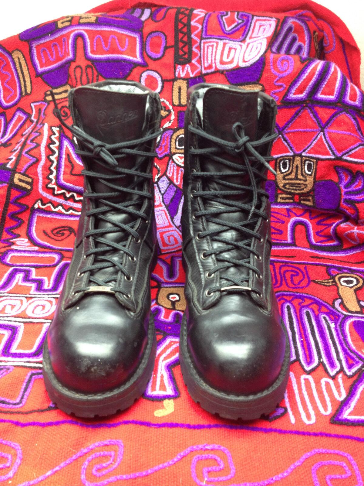 Acadia Danner EE. UU. Puntera De Acero Cuero Negro botas Militares ingeniero jefe 11.5 D