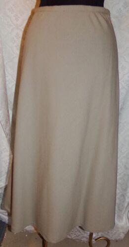 Virani White Label Long Straight Skirt 10 Beige Wo