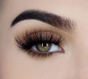 e5cbcba2a34 100% Mink Natural Thick False Fake Eyelashes Eye Lashes Makeup ...