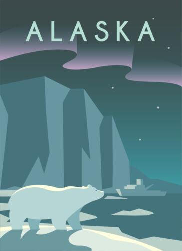 ALASKA RETRO METAL PLAQUE TRAVEL ART SHABBY CHIC TIN SIGN VINTAGE
