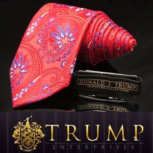 DONALD-J-TRUMP-SIGNATURE-COLLECTION-Red-Blue-Paisley-MAGA-NECKTIE-POWER-TIE