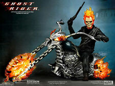 1/6 HOT TOYS GHOST RIDER WITH HELLCYCLE NEW - Nicholas Cage Figure