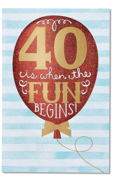 GREETINGS CARD HAPPY 40th BIRTHDAY FUNNY HUMOUR COMEDY BEST FRIEND FORTY BFF