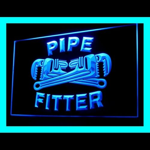 190092 Pipe Fitter Tools Plumber Welders Service Stainless Steel LED Light Sign