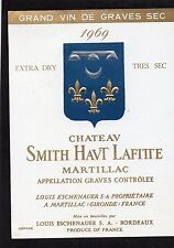 GRAVES GCC VIEILLE ETIQUETTE CHATEAU SMITH HAUT LAFITTE 1969 BLANC §05/12/1916§