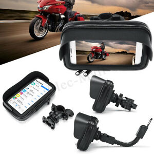 NEW-Waterproof-Motorcycle-Bike-Bicycle-Handlebar-Mount-Phone-GPS-Holder-Case-Bag
