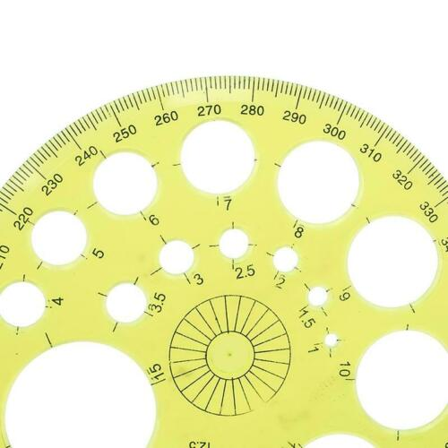 New 360 Degree Protractor Measuring Tool Circle Modern Template N3