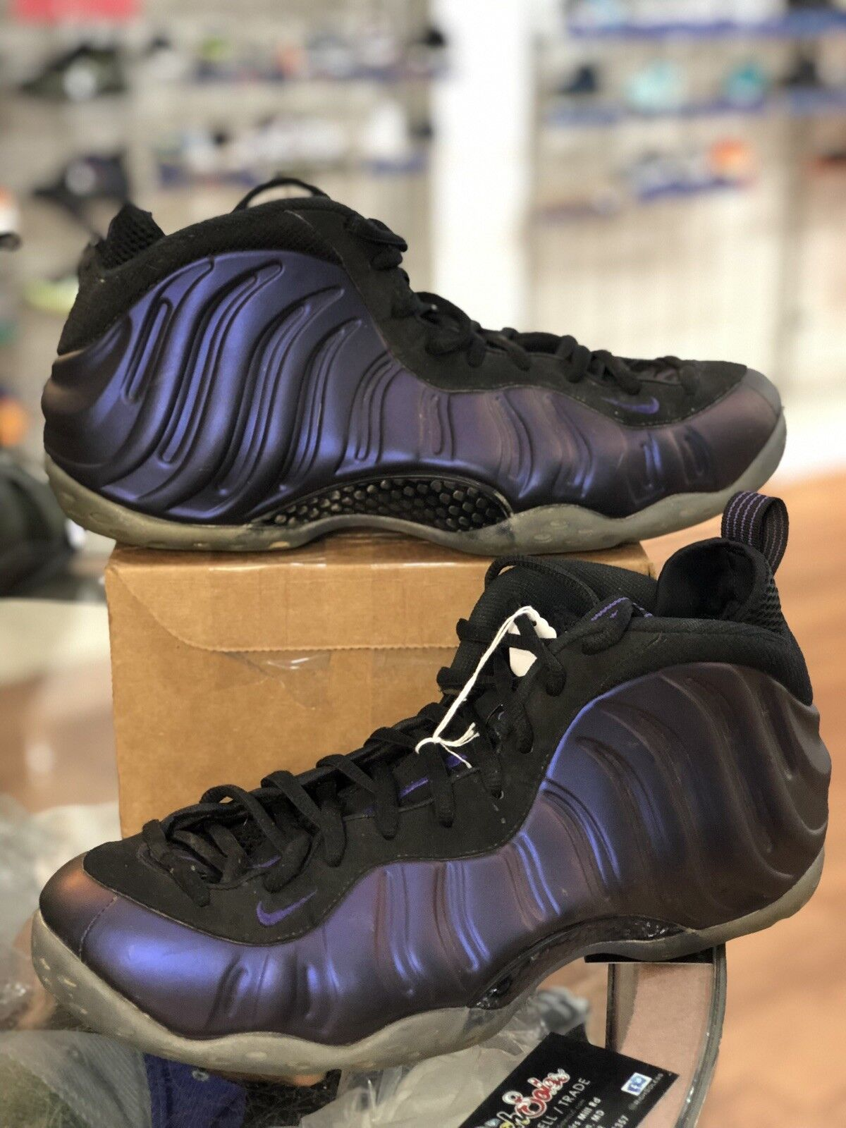 Nike Air Foamposite One Eggplant Black Varsity Purple 314996-008 SZ-13 P2 N4930